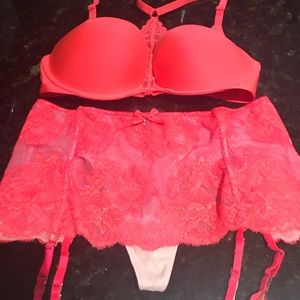 Victoria's Secret bra and garter set
